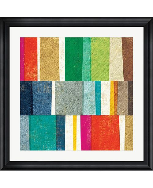 """Metaverse Colorful Abstract by Michael Mullan Framed Art, 32"""" x 32"""""""
