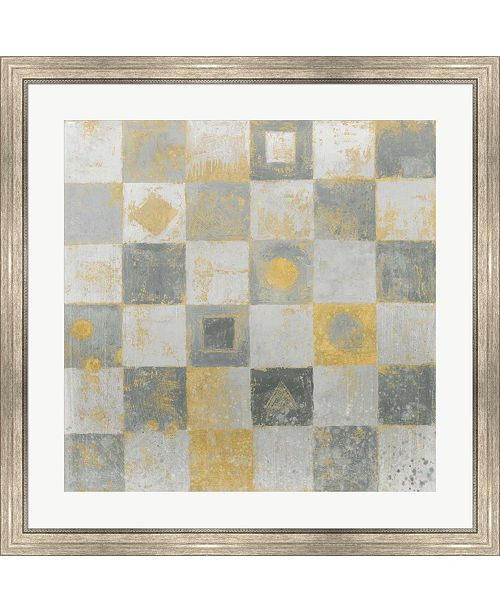 """Metaverse Neutrality Abstract Gold by James Wiens Framed Art, 32"""" x 32"""""""