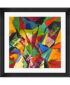 "Abstract Geo 1 by Claudia Framed Art, 32"" x 32"""