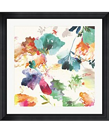"Glitchy Floral I by Posters International Studio Framed Art, 32"" x 32"""