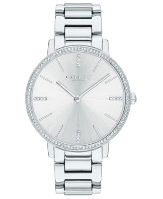 코치 여성 손목 시계 COACH Womens Audrey Stainless Steel Bracelet Watch 35mm,Silver-tone