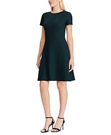 Lauren Ralph Lauren Ponte Fit-and-Flare Dress