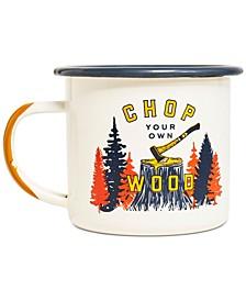Chop Your Own Wood Enamel Steel Candle Mug