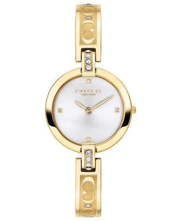 COACH Women's Chrystie Gold-Tone Stainless Steel Bracelet Watch 26mm