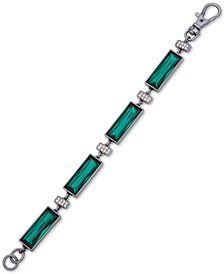 Hematite-Tone Crystal & Stone Flex Bracelet