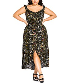 Trendy Plus Size Floral-Print Maxi Dress