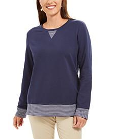 Sport Contrast-Hem Sweatshirt, Created for Macy's