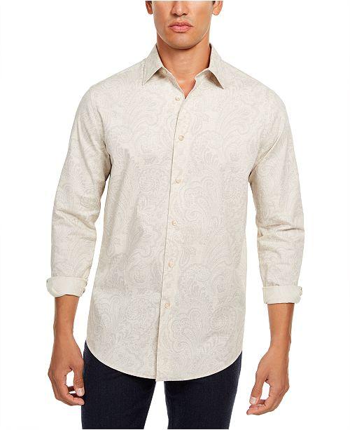 Tasso Elba Men's Pillo Melangé Paisley Shirt, Created for Macy's