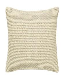 Vera Wang Heather Knit Putty Square Pillow