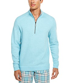 Men's Flip Side Classic-Fit Reversible Quarter-Zip Sweater, Created For Macy's