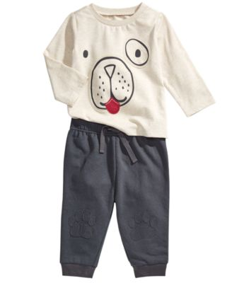 Baby Boys Paw Print Jogger Pants, Created for Macy's