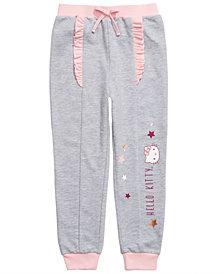 Hello Kitty Little Girls Ruffled Star-Print Jogger Pants
