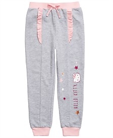Hello Kitty Toddler Girls Ruffle-Trim Jogger Pants