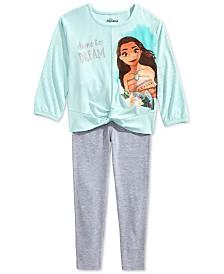 Disney Little Girls 2-Pc. Moana Dare To Dream Top & Leggings Set