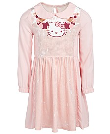 Little Girls Collared Stars & Hearts Dress