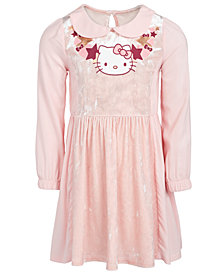 Hello Kitty Little Girls Collared Stars & Hearts Dress