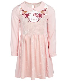 Hello Kitty Toddler Girls Graphic-Print Velvet Dress