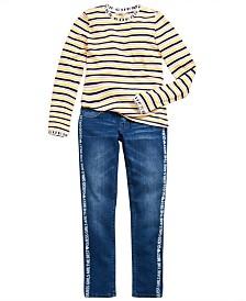GUESS Big Girls Striped T-Shirt & Skinny Jeans