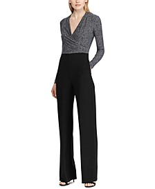 Two-Tone Straight-Leg Jumpsuit