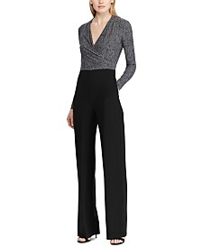 Lauren Ralph Lauren Two-Tone Straight-Leg Jumpsuit