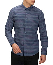 Men's Armstrong Stretch Classic-Fit Yarn-Dyed Stripe Shirt