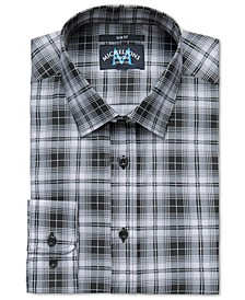 of London Men's Slim-Fit Stretch Plaid Dress Shirt