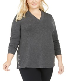Belldini Plus Size Side Snap Top