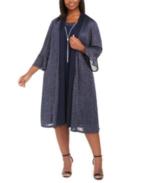 Vintage 1920s Dresses – Where to Buy R  M Richards Plus Size Necklace Dress  Sparkle Jacket $99.00 AT vintagedancer.com