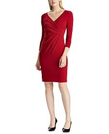 Petite Jersey Three-Quarter-Sleeve Dress