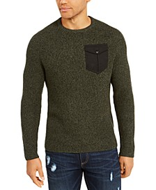 Men's Crewneck Pocket Sweater, Created For Macy's
