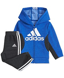 Little Boys 2-Pc. Fleece Hoodie & Jogger Pants Set