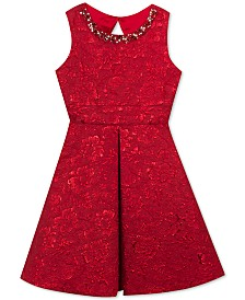 Rare Editions Big Girls Embellished Brocade Dress