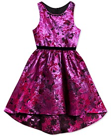 Rare Editions Toddler Girls High-Low Brocade Dress