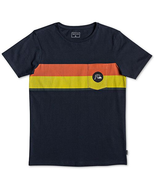 Quiksilver Big Boys Multiply Stripe Cotton T-Shirt
