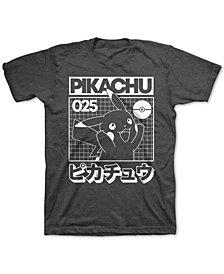Pokémon Big Boys Pikachu Grid T-Shirt
