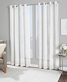 """Finland 54"""" x 84"""" Metallic Detail Sheer Curtain Set"""
