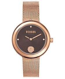 Women's Léa Rose Gold-Tone Stainless Steel Mesh Bracelet Watch 35mm