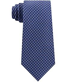 Men's Digital Squares Classic Check Silk Tie