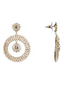 Jewelry Frontal Pave Hoop Earrings