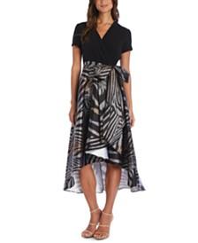 R & M Richards Animal-Print A-Line Dress