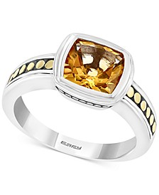 EFFY® Citrine Statement Ring (2-1/3 ct. t.w.) in Sterling Silver & 18k Gold