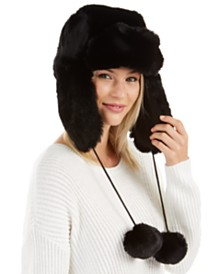I.N.C. Woven Shine Faux-Fur Trapper Hat, Created For Macy's