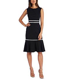 R & M Richards Rhinestone-Detail Dress