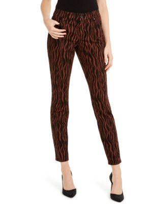 I.N.C. INCEssentials Tiger-Print Skinny Jeans, Created For Macy's
