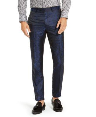 Men's Navy & Black Animal Print Pants