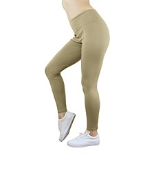 Solid Stretch Ponte Leggings