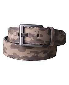 Members Only Split Leather Camo Belt