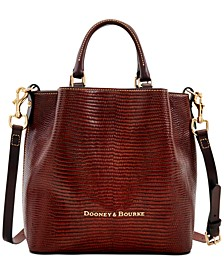 Small Barlow Embossed Leather Tote