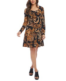 Printed Pullover Dress