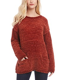 Drop-Shoulder Chenille Sweater